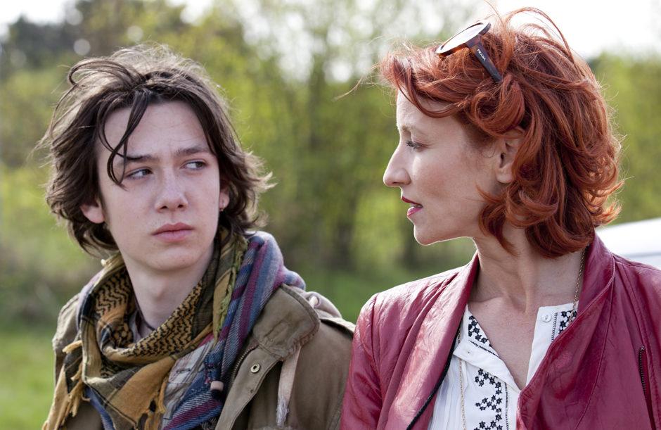 Vincent und seine Patentante Nicole/Nikki